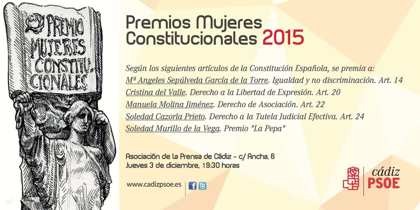 Invitación Premios Mujeres Constitucionales 2015