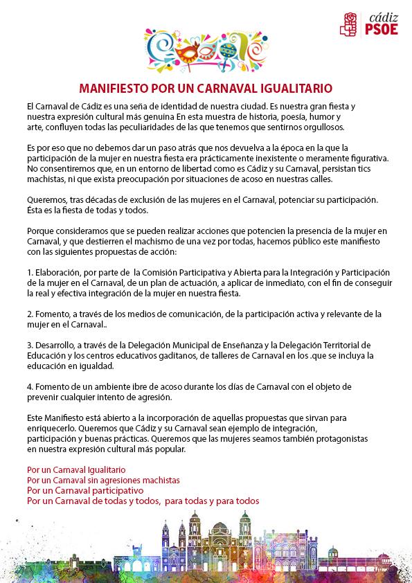 MANIFIESTO CARNAVAL