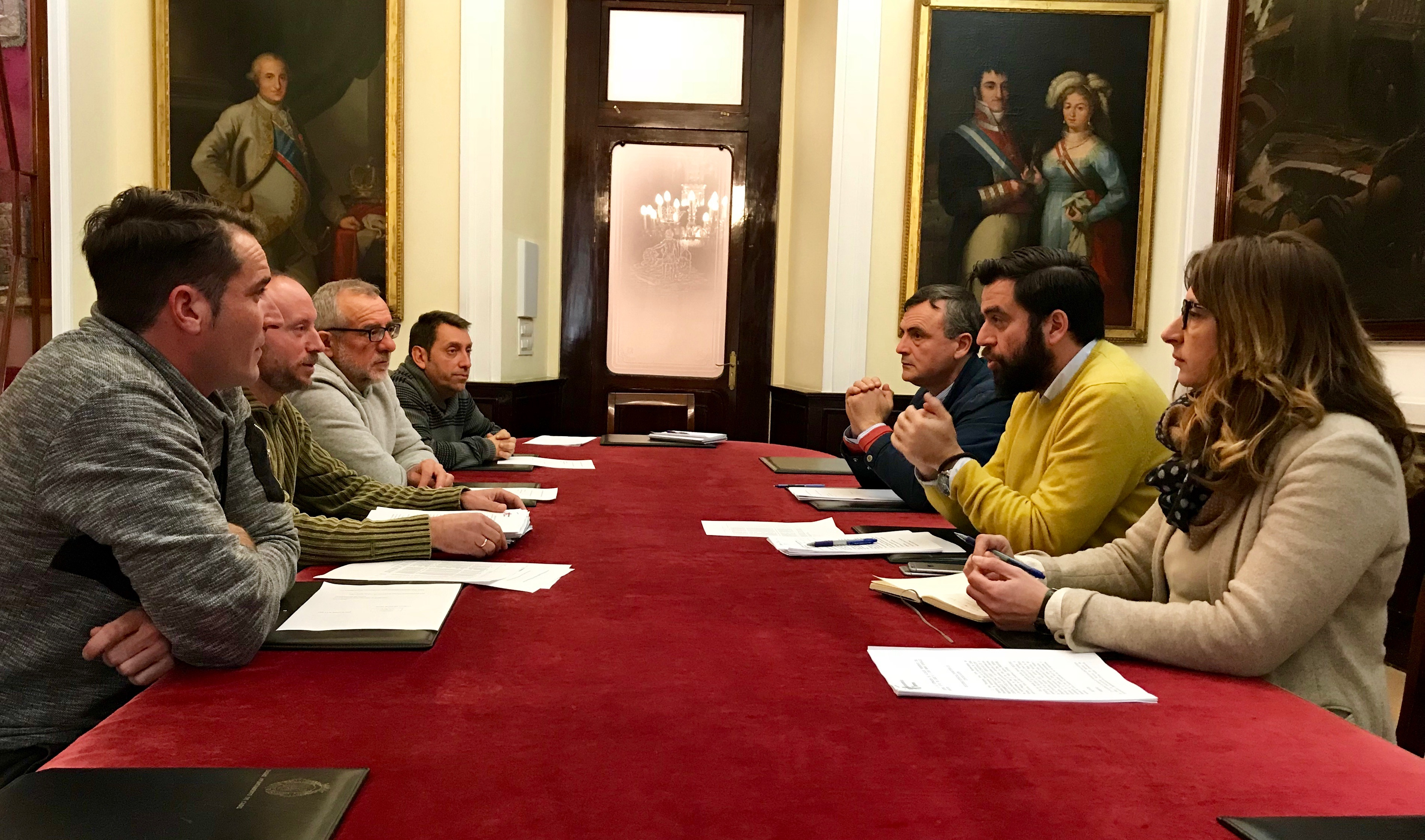REUNIÓN PSOE CADIZ-COMITE EMPRESA JARDINES 090218